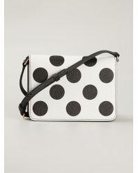 001277613697 Lyst - Dolce   Gabbana Polka-Dot Leather Cross-Body Bag in Black