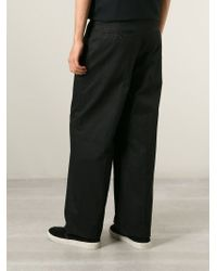 Alexander McQueen - Black Wide Leg Trousers for Men - Lyst