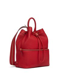 Tory Burch | Red Robinson Pebbled Convertible Backpack | Lyst