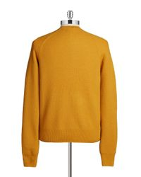 Brooks Brothers Red Fleece | Yellow Merino Wool Crewneck Sweater for Men | Lyst