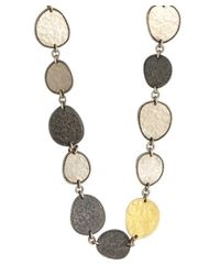 Gurhan - Metallic Silver And Gold 'contour' Long Necklace - Lyst