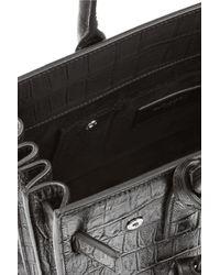 Saint Laurent | Black Sac De Jour Nano Croc-Effect Leather Shoulder Bag | Lyst