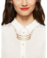 Kate Spade | Metallic Strike Up The Band Small Triple Strand Necklace | Lyst