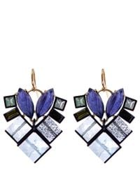 Nak Armstrong - Purple Gemstone Mosaic Drop Earrings - Lyst