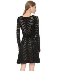 Temperley London - Beau Knit Flare Dress - Black Mix - Lyst