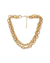 Forever 21 | Metallic Etched Layered Chain Necklace | Lyst