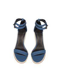 Tibi | Blue Amber Sandals | Lyst