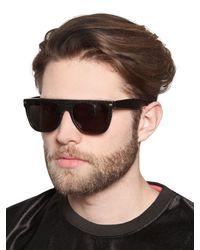 Retrosuperfuture - Black Flat Top Goffrado Acetate Sunglasses for Men - Lyst