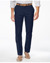 Alfani | Blue Big And Tall Flat-front Sateen Pants for Men | Lyst