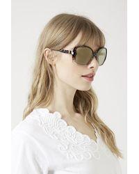 TOPSHOP - Metallic Pav Portugal Sunglasses - Lyst