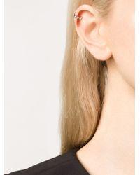 Carbon & Hyde | Metallic 'drake' Diamond Ear Cuff | Lyst