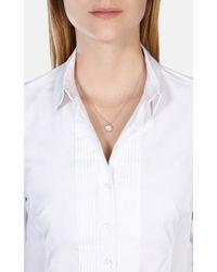 Karen Millen | Metallic Crystal Dot Necklace | Lyst