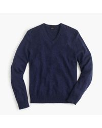 J.Crew | Blue Slim Softspun V-neck Sweater for Men | Lyst