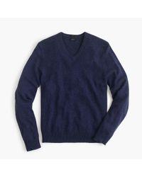 J.Crew | Blue Slim Softspun V-neck Sweater for Men | Lyst