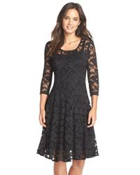 Chetta B | Black 'magic' Lace Fit & Flare Dress | Lyst