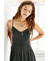 Urban Outfitters - Metallic Secret Garden Crystal Necklace - Lyst