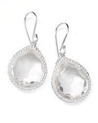 Ippolita - Metallic Rock Candy Diamond Quartz Teardrop Earrings - Lyst