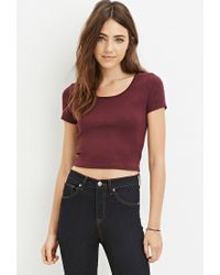 Forever 21 - Red Classic Crop Top - Lyst