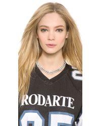 Rodarte - Metallic Padlock Chain Necklace - Lyst