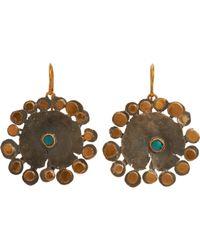 Judy Geib | Brown Flowery Drop Earrings Size Os | Lyst
