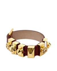 Alexander McQueen | Red Metal Loop Bracelet | Lyst