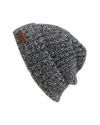 Polo Ralph Lauren | Gray Melange Knit Wool Blend Beanie for Men | Lyst