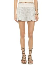 Free People | Gray Heart It Shorts - Ivory Combo | Lyst