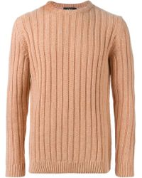 A.P.C. - Purple Ribbed Sweater for Men - Lyst