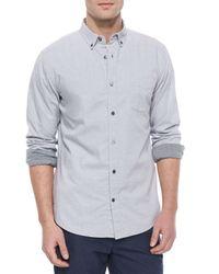 Vince - Blue Melrose Long-sleeve Button-up Shirt for Men - Lyst