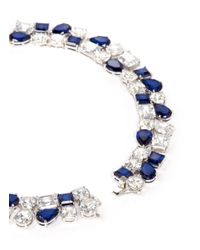 CZ by Kenneth Jay Lane | Blue Multi Cut Cubic Zirconia Collar Necklace | Lyst