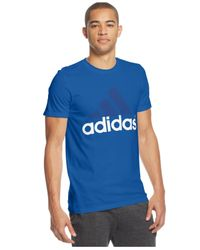 Adidas | Blue Men's Go-to Logo T-shirt for Men | Lyst