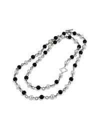 David Yurman - Metallic Bead Necklace - Lyst