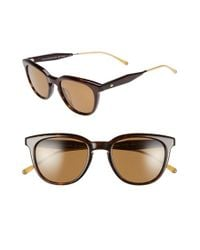 Oliver Peoples | Brown 'beech' 52mm Polarized Sunglasses for Men | Lyst