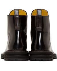 Fendi - Black Leather Selleria Boots for Men - Lyst