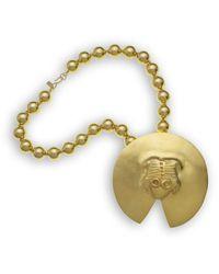 Kenneth Jay Lane - Metallic Satin Gold Frog Pendant - Lyst