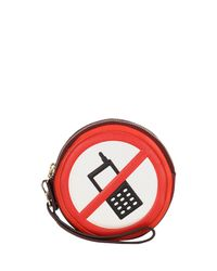 Anya Hindmarch - Red Hadlow No Mobiles Clutch Bag - Lyst