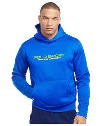 Polo Ralph Lauren | Blue Polo Sport Tech Fleece Hoodie for Men | Lyst