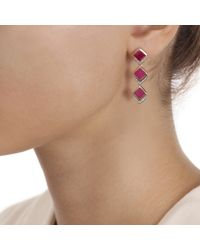 Monica Vinader | Pink Baja Precious Cocktail Earrings | Lyst