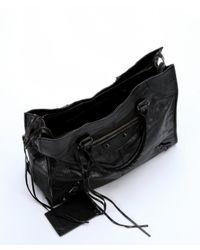 Balenciaga - Black Lambskin 'Classic Monday' Tote Bag - Lyst