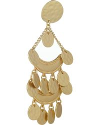 Kenneth Jay Lane   Metallic Hammered Gold-Plated Clip Earrings   Lyst