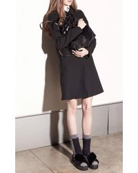 N°21 - Black Cinzia Coat - Lyst