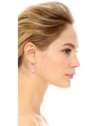 Rebecca Minkoff | Metallic In & Out Hoop Earrings - Gold/clear | Lyst