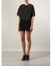 3.1 Phillip Lim - Black Boxy Perforated Top - Lyst
