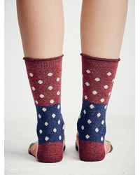 Free People | Brown Womens Spotlight Crew Sock | Lyst