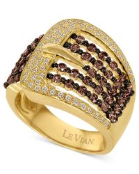 Le Vian - Metallic Diamond Chocolate And White Diamond Buckle (1-1/10 Ct. T.w.) In 14k Gold - Lyst