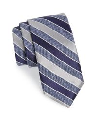 John W. Nordstrom - Blue 'newman' Stripe Silk Tie for Men - Lyst