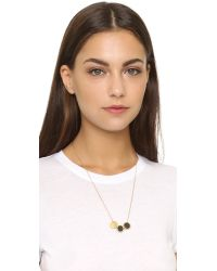 Madewell - Metallic Moonshade Baby Necklace - Vintage Gold - Lyst