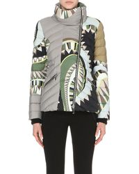 Emilio Pucci | Natural Abstract-print Quilted Jacket | Lyst