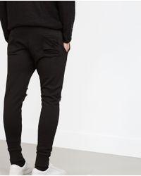Zara | Black Plush Trousers for Men | Lyst