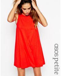 ASOS - Red Sleeveless Swing Dress - Lyst